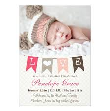 pennant birth announcement invitation card