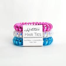 creaseless hair ties hotline hairties the purple chickadee