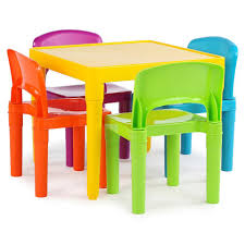 Magic Garden Table And Chairs Tot Tutors 2 In 1 Plastic Building Block Compatible Activity Table