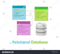 Data Table Design Relational Database Data Table Related Symbol Stock Vector