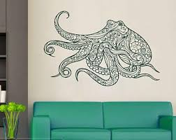 Bathroom Decals For Kids Octopus Wall Decal Etsy