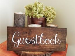wedding registry book guest book guestbook sign wooden guest book sign rustic guestbook sign