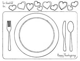 thanksgiving printable place setting for thanksgiving