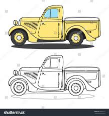 Vintage Ford Truck Images - classic pickup truck doodle styled vector stock vector 538915717