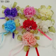 Cheap Corsages Popular Pink Wrist Corsage Buy Cheap Pink Wrist Corsage Lots From