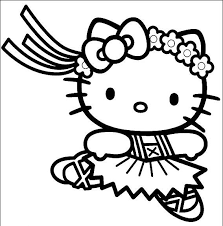 here are three more very cute and pretty hello kitty coloring