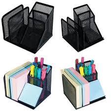 Post It Desk Organizer Office Desk Organizer Set Black Mesh Post It Storage Computer
