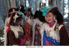 ladakh clothing ladakh traditional clothes stock photos ladakh traditional
