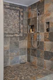slate tile bathroom ideas slate tile bathroom i like the basket weave with the smaller