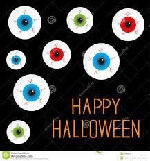 eyeball set with bloody streaks black background happy halloween