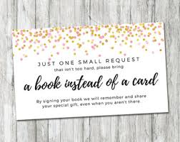 bring a book instead of a card baby shower book instead of card etsy