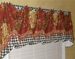 French Country Window Valances Provence French Country Valance Swag Curtain Waverly Red Gold