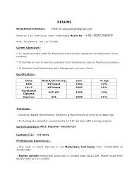 sle resume format for freshers cover letter mechanical engineer sle resume free mechanical