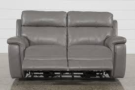 dino power reclining loveseat w power headrest living spaces