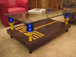 Airplane Wing Coffee Table by Coffee Table Runway With Taxiway Lights Aviation Decor