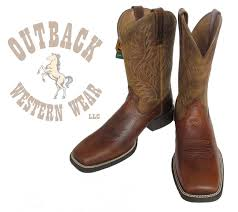 10016291 ariat mens sport leather wide square toe western cowboy