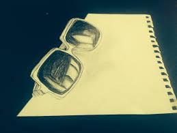 glasses sketch anamorphic anamorphic sketches pinterest sketches