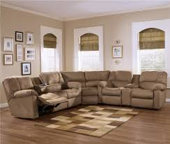 Sectional Sofas With Recliners Eli Cocoa Reclining Sectional Sofa With Pillow Arms And