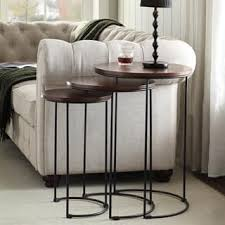 round nesting coffee table nesting tables coffee console sofa end tables for less