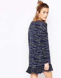 baum und pferdgarten baum und pferdgarten emba dress in tiger stripe in blue lyst