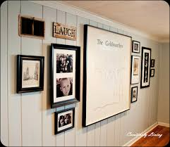 decoration stylish wall gallery and paint wood paneling with