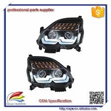 led strip lights headlights x trail led strip headlight with bi xenon projector lens 2012 2013