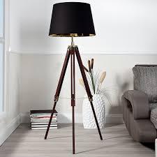 Standleuchten Wohnzimmer Beleuchtung Elegante Design Stehlampe Sylt Höhenverstellbar Braun Stehleuchte