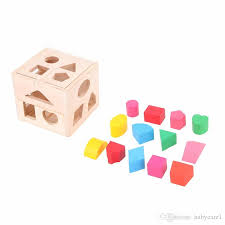 color of intelligence 13 holes baby color recognition intelligence toys bricks wooden