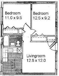 Two Bedroom Apartments Floor Plans Small Two Bedroom Apartment Floor Plans Google Search