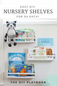 easy diy nursery bookshelves for under 4 each