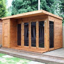 cotswold 12x8 modern garden room with side shed greenhouse