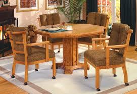 IM David Furniture Wood Octagon Swivel Caster Dining Set - Octagon kitchen table