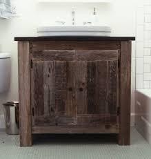 Real Wood Vanities Benoist Reclaimed Wood Bathroom Vanity With Marble Countertop Real