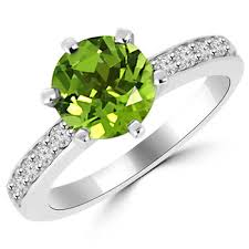 peridot engagement ring green peridot engagement ring in platinum or gold