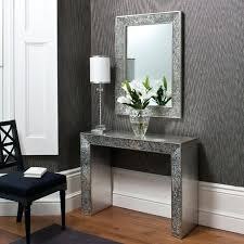 Foyer Console Table And Mirror Foyer Table And Mirror Set Our Mirrored Console Table Makes This