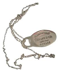 tiffany tag necklace images Tiffany co sterling silver please return to oval dog tag jpg