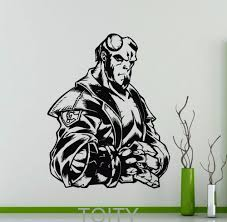 compare prices on marvel comic art online shopping buy low price hellboy poster wall sticker dc marvel comics superhero vinyl decal home interior decoration nursery room art