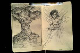 skull tree and tinkerbell sketchbook by tmoegee on deviantart
