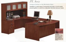 U Shaped Office Desk U Shaped Office Desk With Hutch Espresso Teak Wood Finish High