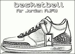 basketball jordan shoe coloring pages now color own shoe color zini