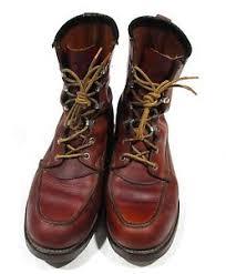 hudson bay s boots vintage 1960s hudson bay herter s brown leather moc toe work boots