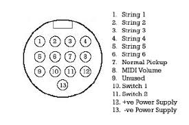 roland 13 pin wiring diagram
