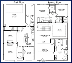 nice home designs single story floor plans one house double south