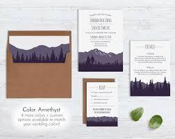 wedding invitations sets rustic mountain wedding invitation sets blue weddings