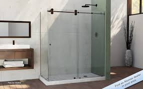 about remodel frameless sliding shower door oil rubbed bronze 78