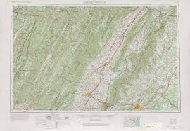 Map Of Charlottesville Va Charlottesville Topographic Maps Va Wv Usgs Topo Quad 38078a1