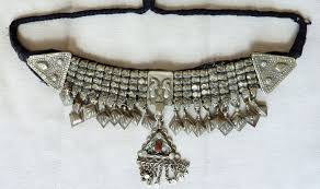 beads necklace india images Old kashmiri choker necklace india mixed silver with glass jpg