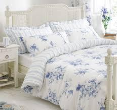 Porcelain Blue Duvet Cover Blue White Bedding Bed Linen Floral U0026 Stripe Reversible Duvet