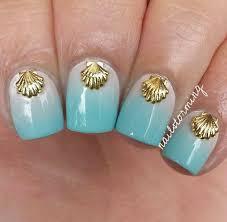 nail polish nail accessories nail art shell gold sea mermaid