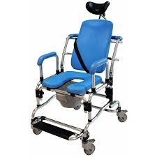 Shower Chair On Wheels Deluge Reclining Shower Chair